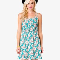 Floral Crisscross Dress