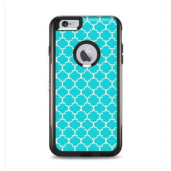 The Teal And White Seamless Morocan Pattern Apple iPhone 6 Plus Otterbox Commuter Case Skin Set