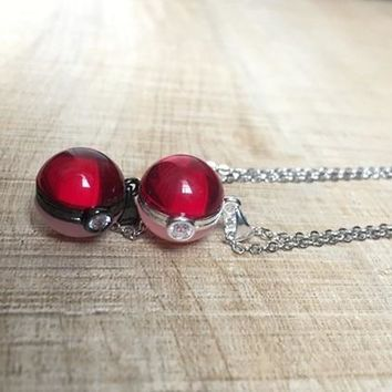 Pokeball Pendant NecklaceKawaii Pokemon go  AT_89_9