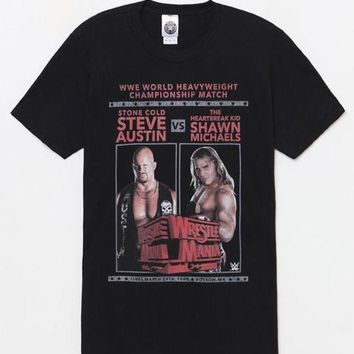 ICIKJH6 Wrestlemania Steve Austin vs. Shawn Michaels T-Shirt