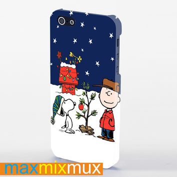 Charlie-Brown-Christmast iPhone 4/4S, 5/5S, 5C Series Full Wrap Case