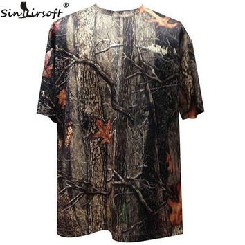 Clearance sale specials! Camouflage Men's short Sleeve T-Shirt Summer Polyester Men Camo T-Shirt for Hunting Clothing