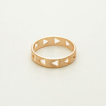 Triangle Band Narrow Ring in Rose Gold / R069RG