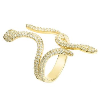 Cleopatra Snake Ring Gold