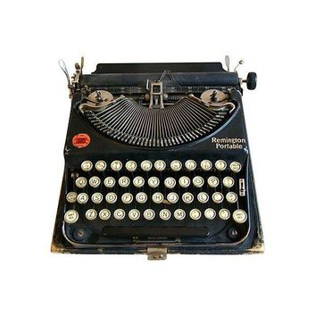 Pre-owned Early-1900s Remington Portable Typewriter & Case