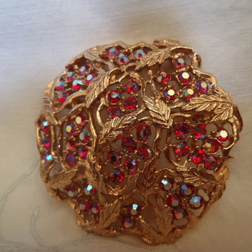 Vintage brooch   Sarah Coventory   jewelry   60's   accessory   mode   Aurora lights
