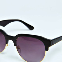 BoohooMAN Retro Trim Sunglasses