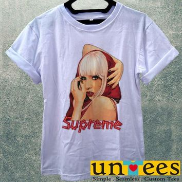 Low Price Women's Adult T-Shirt - Hot Lady Gaga Supreme Logo design