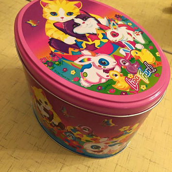vintage lisa frank easter egg tin