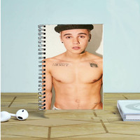 Sexy Justin Bieber Tongue Out Photo Notebook Auroid