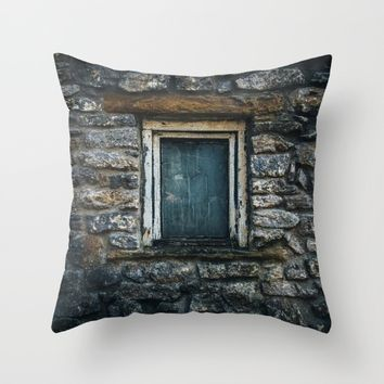 Who's That Peepin' In The Window? Throw Pillow by Mixed Imagery