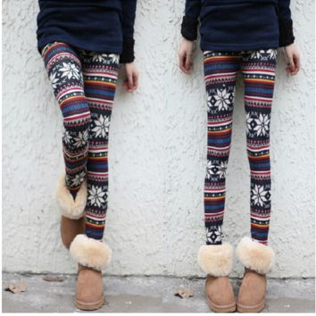 Pearl Velvet Snow Deer Thickening Plus Velvet Leggings Were Thin Cotton Trousers Slim Body Wear Pencil Pants Warm B0014143
