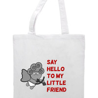 Say Hello To My Little Friend Cupid Tote Bag