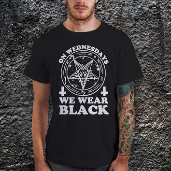 On Wednesdays We Wear Black, American Horror Story Men T-Shirt - Cotton Men T-Shirt ( Various Color Available )