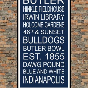Butler Bulldogs Subway Wall Art Print