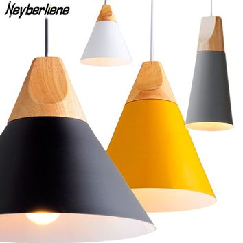 Pendant Lights Lustres Abajur Pendant Lamp Modern Hanglamp LED Bulb For Bedroom Kitchen Colorful Aluminum Lamp Shade Luminaire