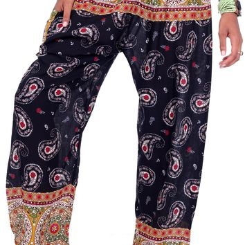 Latte Black Paisley Mandala Pants