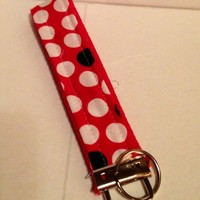 Ladybug Dots Wristlet Key Fob keyChain urban zoology | bitspeaces - Accessories on ArtFire