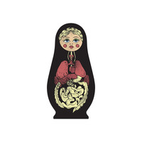 Russian Doll Hex Wall Decal