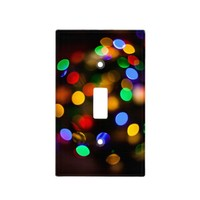 Multicolored Christmas lights. Light Switch Cover