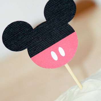 Cupcake Topper - mickey mouse party