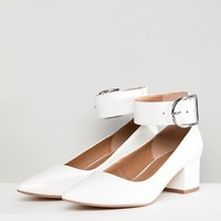 ASOS DESIGN Samber Wide Fit Mid Heels at asos.com