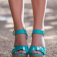 The Parker Wedges, Turquoise