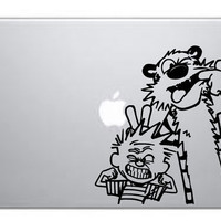 Calvin & Hobbes Macbook sticker Macbook pro decal Macbook air decal Apple decal sticker