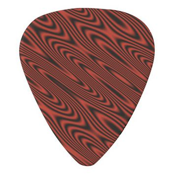 Red and Black Swirl Guitar Pick