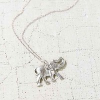 Elephant Pendant Necklace- Silver One