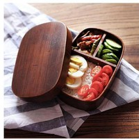 DCCKUN7 Classic Japanese Style WoodenBento Lunch Boxes