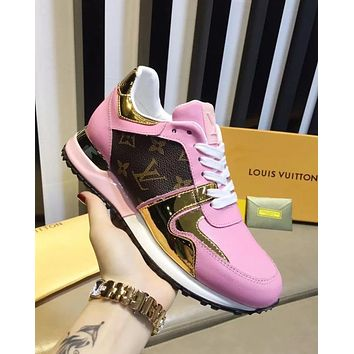 LV Louis Vuitton new tide brand women's comfortable breathable low-top sneakers pink