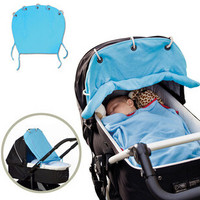 Baby Stroller Sunshade Rolling Cloth Canopy Curtain by Baby in Motion