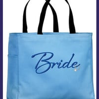 Bride Ring Embroidered Tote Bag