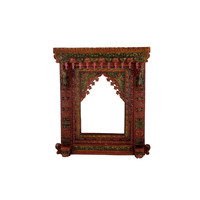 Multicolor Hand Painted Maharani Jharokha Mirror Frame - Wall Décor