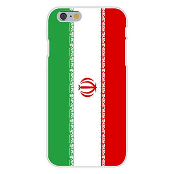 Apple iPhone 6 Custom Case White Plastic Snap On - Iran - World Country National Flags