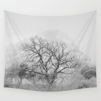 """King Mountain"" Monochrome. Wall Tapestry by Guido Montañés"