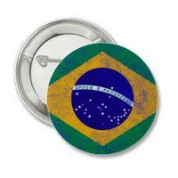Brazil Vintage Flag Button