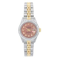 Rolex Ladies Yellow Gold Stainless Steel Datejust Automatic Wristwatch