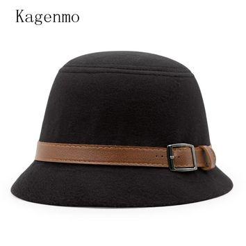 Kagenmo Casual Autumn Female Fishing Bucket Hats Outdoor Fish Cap Fashion Winter Women Hat Short Brim Fall Lady Caps