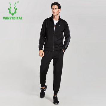 VANSYDICAL Warm Suit Men  Windproof  Track Suits  Tracksuit  Sets