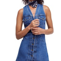 Free PeopleWandering Star Denim Mini Dress