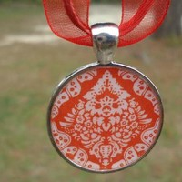 Red Hot and Ready to Wear,  Silver and Red Pendant