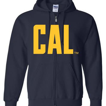 Official NCAA University of California UC Berkeley Golden Bears CAL Oski! Basic Zip Hoodie - 05c-cal