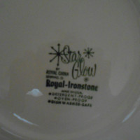 1950's or 1960's  Star Glow Platter by Royal China