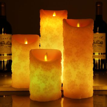 Cherry blossom Shape Color Changing LED Candle with Remote control