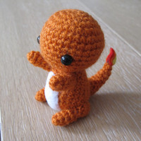 Pokemon Charmander Amigurumi - Crochet plush small toy plush
