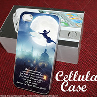 Peter Pan Quote on the Fly City Night for iphone, samsung galaxy and ipod touch cases