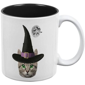 CREYCY8 Halloween Funny Cat Witch All Over Coffee Mug