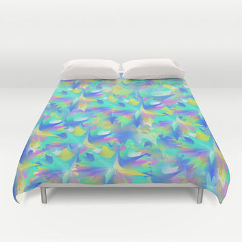 Aquatic Tie Dye Duvet Cover by KJ53321
